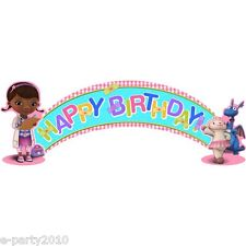 DOC MCSTUFFINS HAPPY BIRTHDAY BANNER ~ Party Supplies Decorations Stuffy Lambie