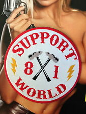 SUPPORT 81 WORLD PATCH, 81 NOMADS SUPPORT, ANGELS 666 HELLS 1 % ER WOVEN PATCH