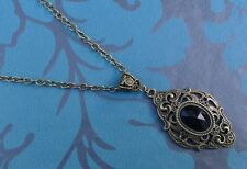 Gothic Victorian Style Steampunk Bronze Plated Filigree Pendant Necklace