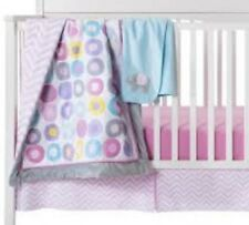 Circo 4pc Nursery Crib Pink Bedding Set Geo Chevron Zig Zag Baby Girl