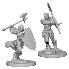 Pathfinder Deep Cuts Unpainted Miniatures: PRESALE Half-Orc Female Barbarians Ne
