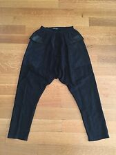 DAMIR DOMA Mens Black Cotton Drop Crotch Pants Trousers IT 46 US Small $729