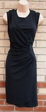 FLORENCE & FRED BLACK RUCHED ONE SIDE PENCIL BODYCON TUBE FORMAL PARTY DRESS XL