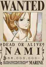 Poster A3 One Piece Nami Recompensa Wanted Cartel Se Busca