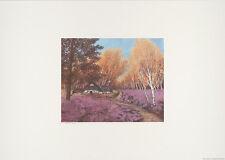 Heide Dahl Heidehaus handsignierter Kunstdruck Bild42x59cm
