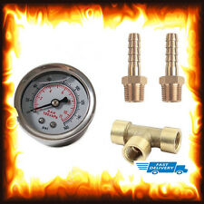 Liquid Fuel Pressure Gauge Kit Injection Testing Test Regulator 160 PSI 1/8 NPT