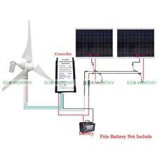 24V 750W/H Hybrid System Kit:400W Wind Turbine Generator & 2*180W PV Solar Panel