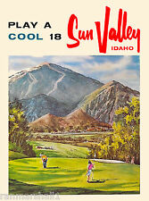 Sun Valley Idaho Play Cool 18 United States America Travel Advertisement Poster