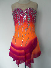 NEW FIGURE ICE SKATING BATON TWIRLING DRESS COSTUME CHILD XL