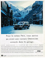 PUBLICITE ADVERTISING 124  1998  JEEP CHEROKEE