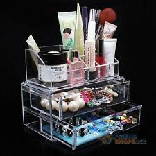 Acrylic Cosmetic Organizer Drawer Makeup Jewellery Case Storage Holder Tidy Box