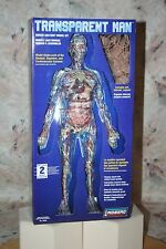 "TRANSPARENT MAN 19"" HUMAN ANATOMY MODEL KIT & DISPLAY STAND LINDBERG NEW!"