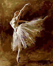 """Nice Painting DIY Acrylic Paint By Number Cotton Canvas 16""""x20""""- Ballet solo"""