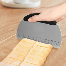 Professional Stainless Steel Dough Pastry Scraper Slicer Cutter Measuring Guide