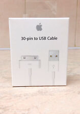 Original Apple iPhone 4S/4/3 iPad 1 2 3USB Cargador Cable de sincronización de datos en caja de venta al por menor