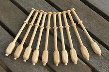 Square Binche Lace Bobbins - ten lightwood Continental bobbins