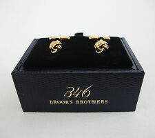 NIB Authentic BROOKS BROTHERS - Gold-Tone LOVE KNOT Cuff Links Cufflinks