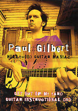 Paul Gilbert Guitar DVD Get Out Of My Yard Learn Lesson ROCK METAL BLUES SONGS