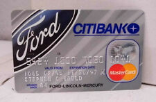 Citibank Ford Lincoln Mercury Mastercard Credit Card - Expired Collectible
