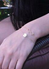 Double chain infinity bracelet personalized initial jewelry monogram bracelet