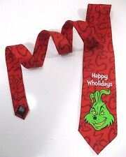 Grinch Christmas Neck Tie Light Up Musical Jingle Bells Red Green Dr Suess Ent.