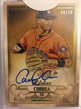 2016 Topps Five Star Golden Graphs Carlos Correa 8/50! On Card Auto!