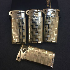 4 Pcs JOBON Checkered Patterns Dual Style Flame Butane Cigar Cigarette Lighter