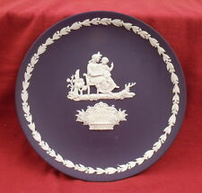 Wedgwood Portland blue jasper ware Mother's Day plate 1975
