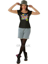 I Love The 90's Festival Peace Hippie Hippy Adult Ladies T-Shirt Sizes UK 16-18