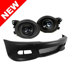 BMW E46 3-Series M3 Style Front Bumper w/ Euro Projector Fog Lights + Fog Covers