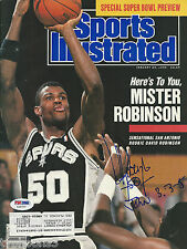 DAVID ROBINSON Signed 1/29/90 SPORTS ILLUSTRATED with PSA/DNA COA
