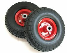"2PC PACK 10"" NO FLAT NO AIR HAND TRUCK / CART / DOLLY / FOAM TIRE 4.10/3.50-4"