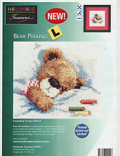 Bear Peeking Counted Cross Stitch Kit Easy Handmade Treasures Teddy