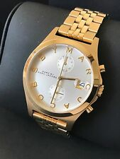 Marc By Marc Jacobs Women Ferus Gold Tone Bracelet Chronograph Watch MBM3379 NWT