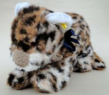 Steiff Patchy Young Leopard 40cm 16in Knitted Plush ID Button Tag 1977 -80 Vtg