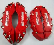 "Engineering Plastic Red Brake Caliper Cover Silver Font AMG 11""F 9""R Mercedes"