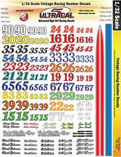 MG3320 - 1/32 Scale Vintage Racing Numbers UltraCal High Def Decals