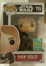 Funko pop Han solo with chewie's bowcaster SDCC exclusive rare