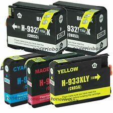 5PK 932XL 933XL Ink Cartridge for HP OfficeJet 6100 6600 6700 7110 7610 7612