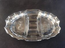 Anglo Dal Ltd Commemorative Glass Ashtray 1939-1964 Warsaw London Coat of Arms
