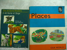 2 Old 1960's ? Childrens Readers All Sorts of Dogs Jean Marshall & Places pb