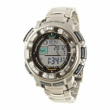 Casio Men's PRW 2500T-7CR Pro Trek Tough Solar Digital Sport Titanium Watch