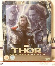 NEW THOR DARK WORLD 3D+2D BLU-RAY+ LENTI MAGNET STEELBOOK! UK ZAVVI+REGION FREE