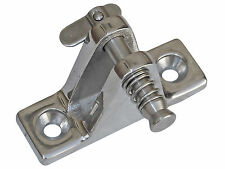 BIMINI TOP STAINLESS ANGLED DECK HINGE 90º REMOVABLE PIN FOR BOAT - FIVE OCEANS