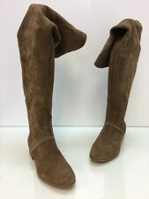 FREE PEOPLE GRANDEUR SUEDE OVER THE KNEE BOOTS BROWN SIZE 38