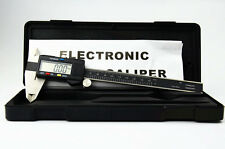 "6"" INCH ELECTRONIC DIGITAL CALIPER HIGH QUALITY WITH BOX STAINLESS BLACK SLIDE"