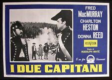 CINEMA-fotobusta I DUE CAPITANI mcmurray,heston,reed,MATE'