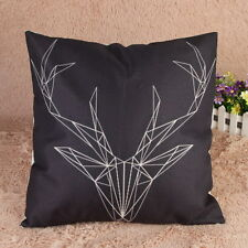 Creative Art Nordic Tribal Deer Indie Bohemian Linen Pillow Sofa Cushion Covers