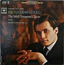 """BACH: The Well-Tempered Clavier Book I-M1963LP GLENN GOULD COLUMBIA GRAY """"2-EYE"""""""