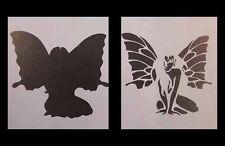 Airbrush Schablone 405 Schmetterlingsfrau